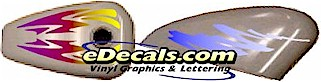 full color fade vinyl graphic decals